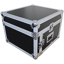 Araña 10U X 4U Slanted mezclador Accesorio de vuelo funda deslizante con compartimento para portátil