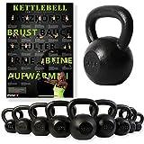 POWRX Kettlebell 4-30 kg | POWRX Kugelhantel Guss...