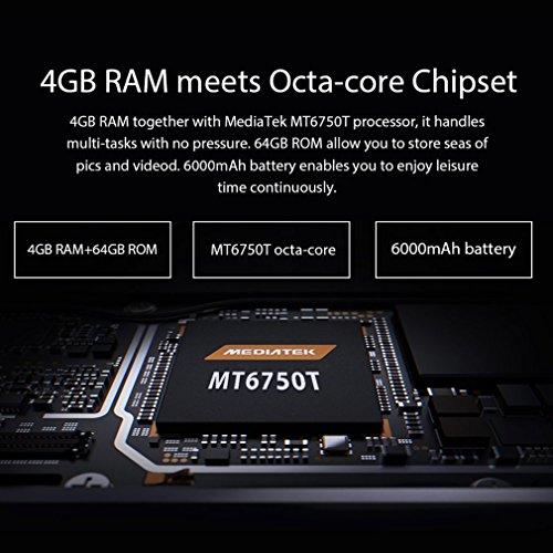 OUKITEL K3 - M  viles Libres 4G  Android 7 0 Pantalla de 5 5 FHD C  mara Trasera de 13 0MP   64GB de ROM   4GB de RAM  MTK6750T Octa Core 1 5GHz   Dua