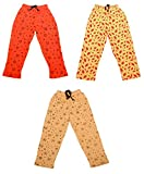#6: Indistar Kids Baby Boys & Girls Premium Cotton Printed Lowers / Track Pant with 2 open Pockets (Pack of 3)-Beige/White/Green-4-5 Years