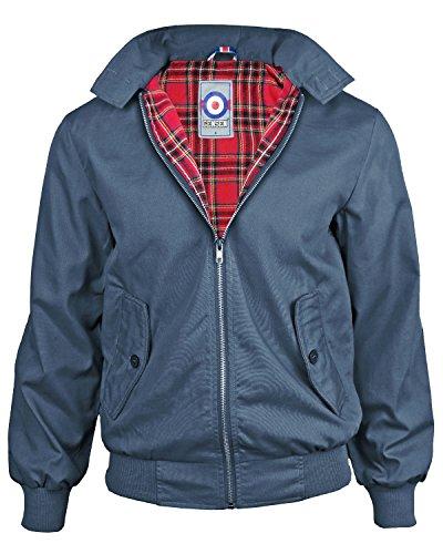 Gensen da uomo giacca Harrington mod Button Collar Coronet Blue X-Large