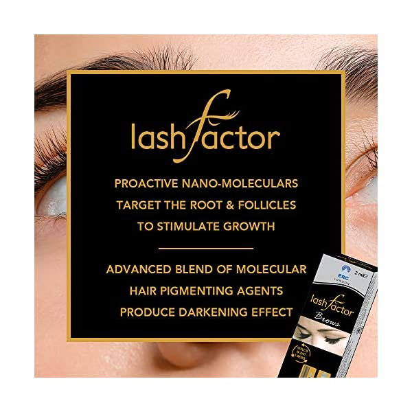 Lashfactor Brows Double Strength Rapid Eyelash & Brow Growth in just 4 weeks, 2ml, Ophthalmologist and Dermatologist…