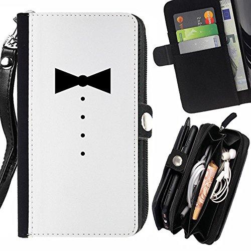 Kleidung Männer Mode Design Zipper Brieftasche mit Strap Hülle Tasche Schale Schutzhülle für Samsung Galaxy Express 2 ()