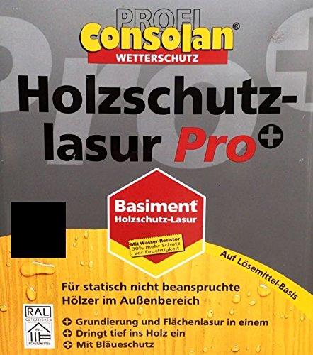 Consolan Profi HSL Pro+ 2 in1 Holzschutzlasur Lasur Holzschutz Palisander Seidenmatt 25 Liter