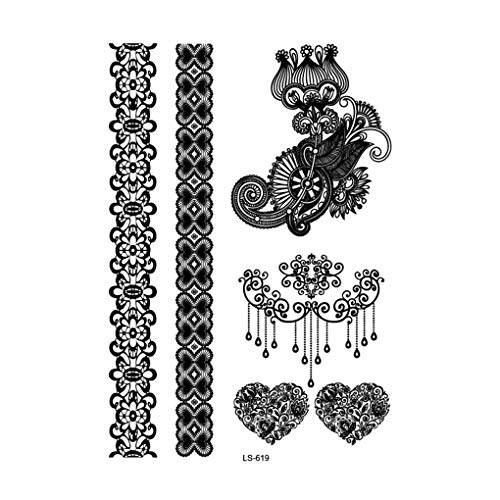 Provide The Best Sexy Lace Flower Batterfly Body Tattoo Sticker Stamping Women Girl Female Temporary Decal Decor