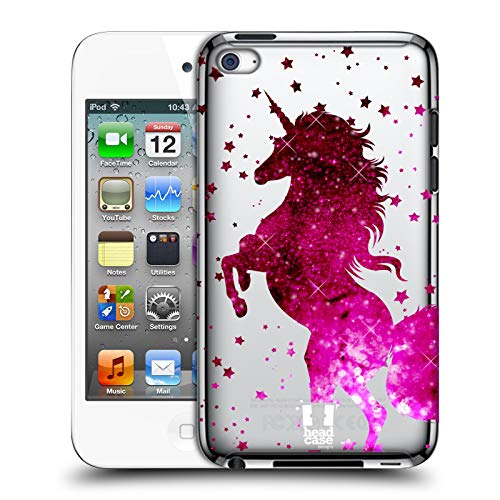 Head Case Designs Pink Einhorn Funkeln Harte Rueckseiten Huelle kompatibel mit Apple iPod Touch 4G 4th Gen (Ipod 8gb 4. Gen)