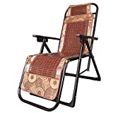 Schlafsofas Klappstühle Mittagspause Mahjong Sitze Älterer Balkon Büro Sommer Strand Rattan Stuhl Lounge-Sessel Verstärkte Stühle (Farbe Optional) (Farbe : B)