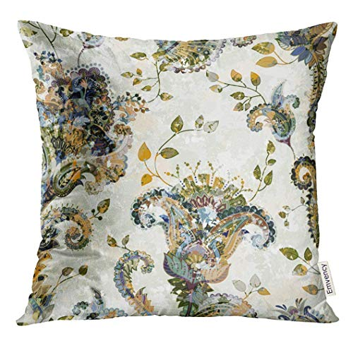Abat Jour Moderne Economiche.Cupsbags Throw Pillow Cover Indian Paisley Floral Pattern Colorful Ornamental Color With Flowers Effect Of The Ancient Fresco Classic Decorative