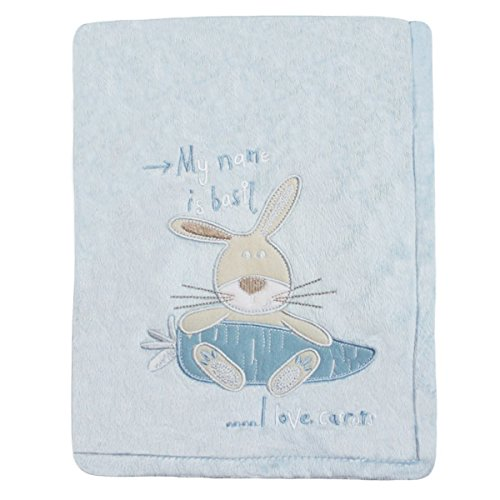 Snuggle Baby Bunny Couverture pour bébé, Bleu ciel, Moses/Berceau/landau