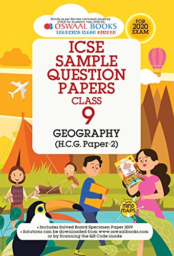 Oswaal ICSE Sample Question Papers Class 9 Geography (For March 2020 Exam)