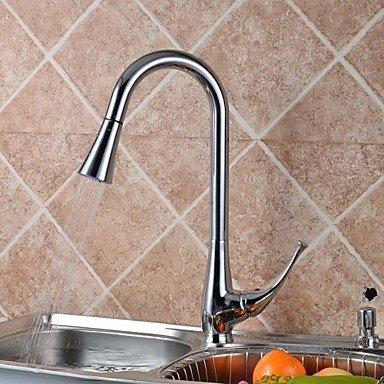Shuyou® moderne Chromé extractible de cuivre Lavabo Robinet robinet d'eau–Argent