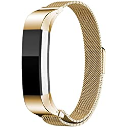 Fitbit Alta Wristband , HARRYSTORE Magnetic Milanese Wrist Band Adjustable Stainless Replacement Accessories Bracelet for Fitbit Alta Watch