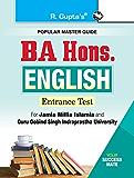 BA Hons. English Entrance Exam Guide for JMI & GGSIPU