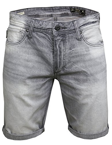 JACK & JONES ( rick shorts 208 grey denim L )