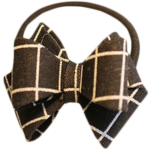 Hair Bands Mode Corde cheveux bowknot Accessoires cheveux(Noir Grid)