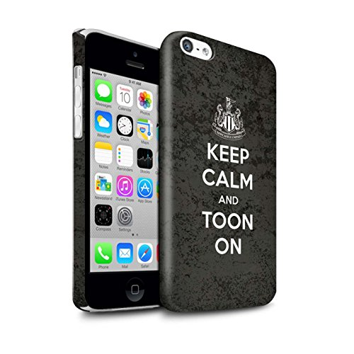 Offiziell Newcastle United FC Hülle / Glanz Snap-On Case für Apple iPhone 5C / Pack 7pcs Muster / NUFC Keep Calm Kollektion Toon On