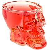 Skullglas im 3D Totenkopfdesign (60ml). Für die Hausbar, Halloween, Party, Geschenk im Totenkopfdesign, für Vodka, Schnaps, Whiskey, Totenkopf, Schnapsglas, Rocker, Metal, Shots, Farbe: transparent