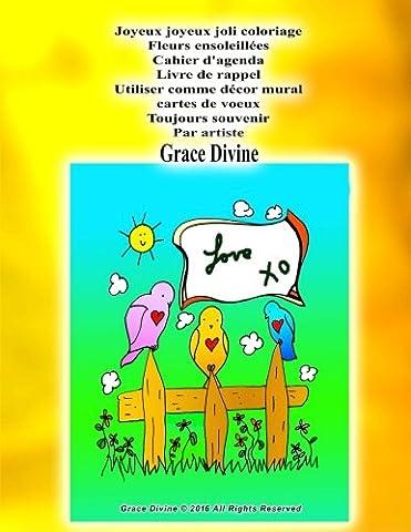 Joyeux joyeux joli coloriage Fleurs ensoleillées Cahier d'agenda Livre de
