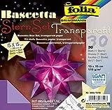 NEU Faltblätter Bascetta Stern violett 15x15cm [Haushaltswaren]