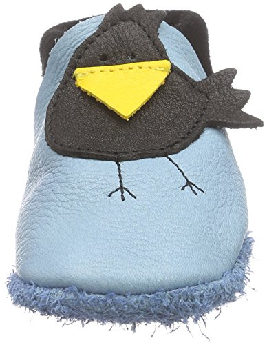 Pololo Rabe Karl Unisex-Kinder Flache Hausschuhe Blau (Babyblue / Nero)