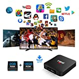 Turewell TV Box Android 7.1, Android Box Amlogic S905W Quad Core, 2GB RAM/16GB ROM, 4K*2K UHD H.265, HDMI, USB*2, WiFi Media Player, Android Set-Top Box