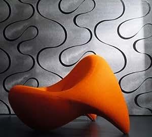 marburg designer tapete by luigi colani 53340 kollektion. Black Bedroom Furniture Sets. Home Design Ideas