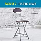 Tied Ribbons Folding Chair For Kids Home School Study Folding Chairs For Boys & Girls Unisex (Fire Pit, Set Of 2)