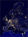 Poster 60 x 80 cm: Europe at Night de NASA/Science Photo Library - Reproduction Haut de Gamme, Nouveau Poster