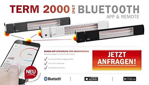Infrarotstrahler Burda Term, 2000 Watt, Steuerung über Handy App – anthrazit - 2