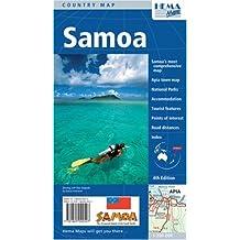 Carte routière : Samoa (en anglais)