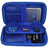 Estarer Borsa per disco rigido esterno penna USB/scheda SD borsetta Blu