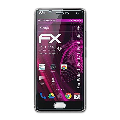 atFolix Glasfolie kompatibel mit Wiko U Feel/U Feel Lite Panzerfolie, 9H Hybrid-Glass FX Schutzpanzer Folie