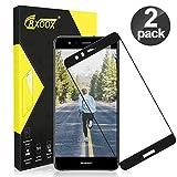 CRXOOX Vetro Temperato per Huawei P10 Lite 2 Pack Vetro Protezione Senza Bolle d'Dria Pellicola Vetro 9H AntiGraffio Pellicole Protettive Anti Urto Screen Protector per Huawei P10 Lite Nero
