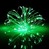 BOLWEO Battery Operated Christmas String Lights,10Ft/3M 30Leds,Waterproof Decor Lights for Indoor Outdoor Home Garden Vases,Green,3Pack
