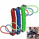 RISHIL WORLD Alarm Disc Lock Security Spring Reminder Cable Motorcycle Bike Scooter Single Item.