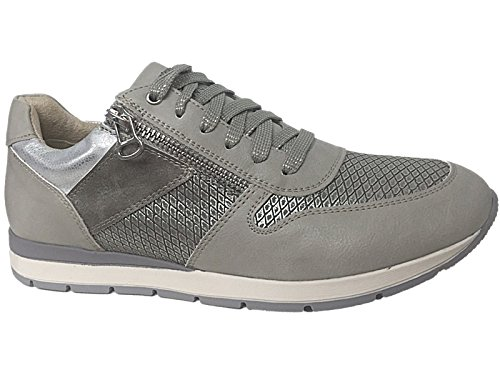 Foster Footwear , Damen Sneaker Hellgrau