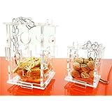 Uniqstore Pájaros de forraje Juguetes Acrílico Parrot Cage colgando de alimentos Alimentador Puzzle Juguetes Nuevo