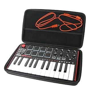 For AKAI Professional MPK Mini MKII Portable USB MIDI Keyboard EVA Hard Case Carrying Travel Bag by Khanka.