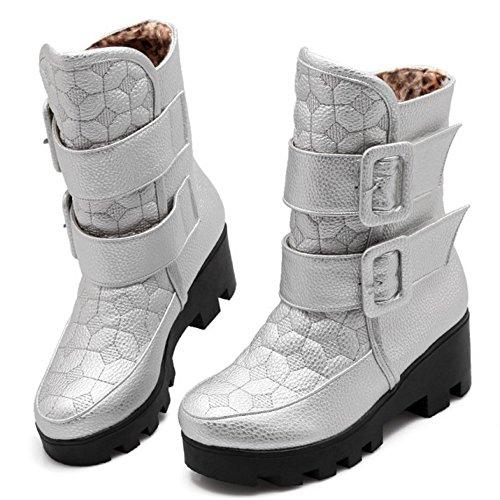 Donne h Taoffen Silver Warm Stivali Inverno aqa78xA