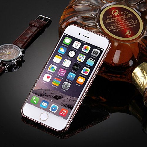 Phone case & Hülle Für iPhone 6 / 6s, Diamond verkrustete Galvanik Rahmen TPU Schutzhülle ( SKU : IP6G1861A ) IP6G1861D