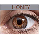 Soft Eye Monthly Color Contact Lens (Zero Power) with Free Lens Solution & Lens Case/Container Kit (honey)