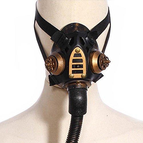 KEHUASHINA Steampunk Gas Maske Frauen Cosplay Halloween Kostüm Zubehör Feiertag Partei liefert Cosplay Foto Requisiten Metall - Gas Maske Kostüm