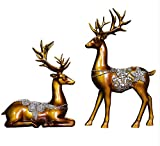 Willower Furnishings, Home furnishings, Living Rooms, Model Rooms, Creativity, Simplicity, Resin, Fortune, Deer, TV Cabinet, Wine Cabinet, Modern Decoration,Golden elk (Trumpet)