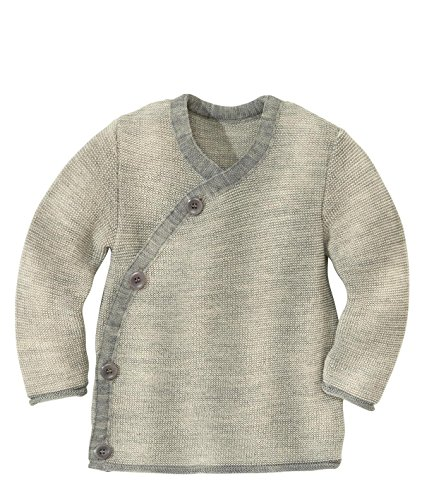 Disana 32511XX - Melange-Jacke Wolle grau/natur (86/92)