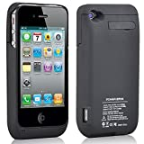 3000mAh Charger Receiver Case Cover For Iphone 4 4G 4S iPhone4S Power Charging