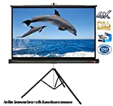 #10: ELCOR Tripod Projection screens 8ft width x 6ft Height In Imported hygain fabric In 1080P, 3D/ full HD Format and 4K Technology with Heavy tripod stand.
