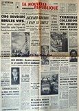 NOUVELLE REPUBLIQUE (LA) [No 6688] du 14/09/1966 - 5 OUVRIERS BRULES VIFS SUR LE CHANTIER DU VILLAGE OLYMPIQUE DE GRENOBLE - RICHARD GORDON A RATE SA SORTIE COMME CERDAN EN JUIN - ATTERRISSAGE FORCE A REIMS POUR L'AVION DE MICHEL DEBRE - BEN BARKA / BERNIER MENACE DE SE SUICIDER S'IL EST CONDAMNE - LE ROLE DES ARMEES DANS L'EXPLOSION NUCLEAIRE PAR MAREY - MME LUCIE FAURE VICTIME D'UN RAT D'HOTEL EN SUEDE - AFRIQUE DU SUD / BALTHAZAR VORSTER SUCCESSEUR DU PERE DE L'APARTHEID - DE GAULLE A POINTE...