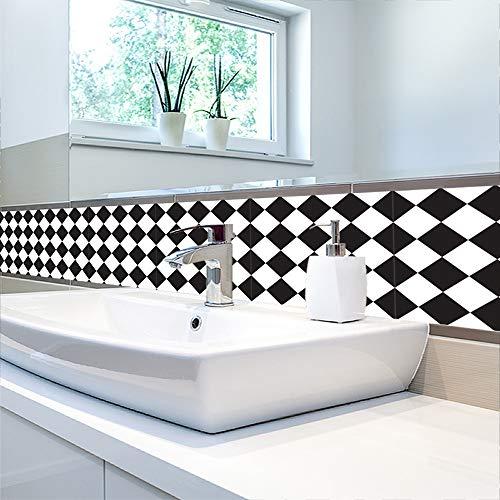 MIRUIKE Selbstbehaltung Peel und Stick Backsplash Tile Decals für Küchenbad-Decor, 45x90cm -