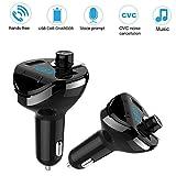 FM-Transmitter,HKFV Wireless Bluetooth Auto MP3 Player FM Transmitter Radio LCD Dual USB Ladegerät T20 Dual USB Auto Bluetooth Freisprecheinrichtung