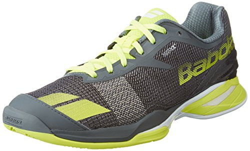 Babolat Jet Clay Scarpe da tennis da uomo, Grey/Yellow, 7 UK - 40.5 EU